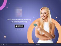 Main screen Dubface app by Aleks Daiwer