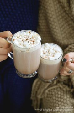 Grab a couple friends and stream your favorite show while sipping this delicious cocoa drink! Made with hot buttered vodka and marshmallows, it's the perfect way to weather these blustery days.