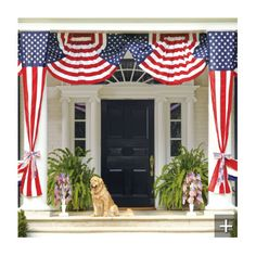 Exterior Doors | 4th Of July porch decor | Bayer Built Woodworks