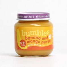 Bumbles™ Baby Food Mango and Banana with Quinoa on bumbles.co.za Gerber Baby, Baby Food Recipes, Quinoa, Mango, Banana, Healthy, Recipes For Baby Food, Manga, Bananas
