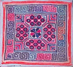 Intricate embroidery of Dong people, Guizhou, China