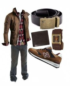 Red and brown men's fashion outfit. I don't like the plaid shoes, but the New Balance ones would look awesome! Sharp Dressed Man, Well Dressed Men, Look Fashion, Mens Fashion, Fashion Outfits, Cool Outfits, Casual Outfits, Revival Clothing, Men's Clothing