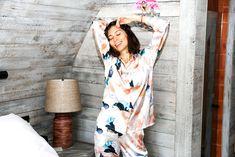Ethical sleepwear | JasmineHemsley.com Pyjamas, Pjs, Jasmine Hemsley, Sustainable Fashion, Wrap Dress, Dresses, Vestidos, Dress, Gown