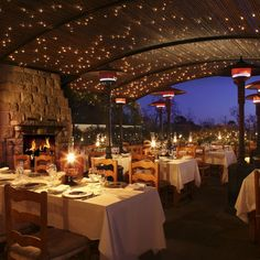 The Stonehouse, a restaurant in Santa Barbara, CA at San Ysidro Ranch, features a separate dining room with a fireplace and creek side views. Dine under the romantic gaze of Southern California's stars at this Santa Barbara restaurant. Santa Barbara California, California Love, California Travel, Montecito California, Central California, Northern California, Pismo Beach, Stonehouse Restaurant, West Coast Usa