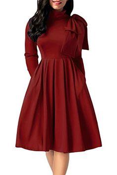 AlvaQ Women s Long Sleeve High Waisted Mock Neck Pocket S.. 88f49cfdd