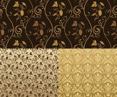 vintage flower patterns | vintage patterns vector set of 5 beige vector seamless vintage ...