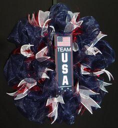 Team USA Olympics USA Olympics RWB Wreath Front