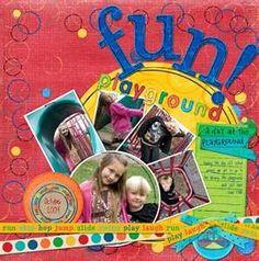 Fun Scrapbook Layout Ideas Park | Fun layout!