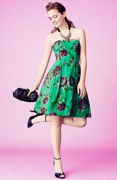Super sweet homecoming dress: Betsey Johnson Print Fit & Flare
