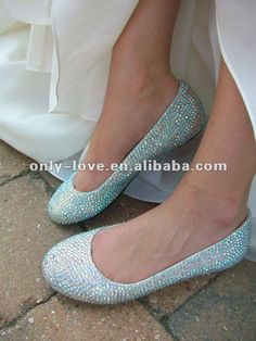 What do you think? how they're made by wine glasses, I don't know. sparkly flat wedding shoes | flat AB rhinestones bridal wedding shoes,View bridal flat wedding ...