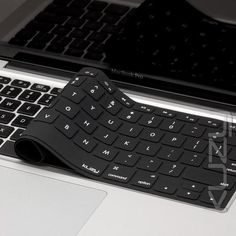 6ef362c5c66 Kuzy - Solid Black Keyboard Cover Series Perfect fit for MacBook Pro 13, 15,