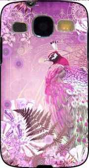 coque PINK PEACOCK pour Samsung Galaxy Core Plus G3500