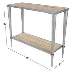 Increase the country charm of your living room or entryway with the DecMode Rectangular Console Table With Bottom Shelf . High Quality Furniture, Display Shelves, Accent Furniture, Console Table, Sideboard, Farmhouse Style, Entryway Tables, Buffet