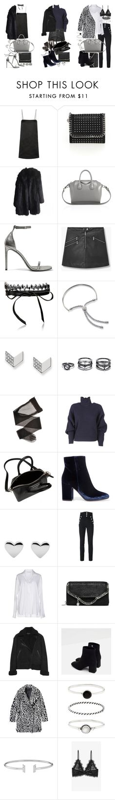 """""""Christmas party outfits"""" by florencia95 ❤ liked on Polyvore featuring The Row, STELLA McCARTNEY, Sonia Rykiel, Givenchy, Yves Saint Laurent, MANGO, Fallon, Monica Vinader, FOSSIL and LULUS"""