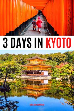 Kyoto is Japan's ancient capital and an essential on any trip to the Land of the Rising Sun!  Read on for a complete 3 day Kyoto itinerary including the best things to do in Kyoto with kids, tips on how to get around Kyoto, where to stay in Kyoto with children. Includes Arashiyama, Kinkakuji, Fushimi Inari Shrine, Kiyomizu-dera temple and much more. #travel #kyoto #japan