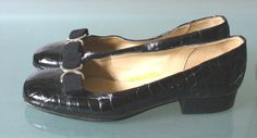 Adolfo Couture  Made In Italy Faux Crocodile Ballet Flats Size 7M by EurotrashItaly on Etsy