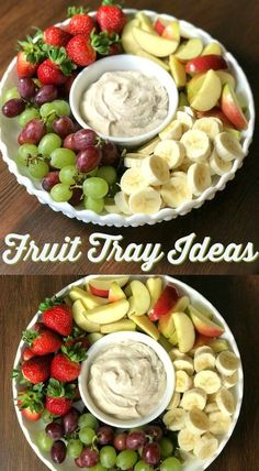 How to Make a Fruit Tray Fruit trays are one of my favorite things to take along to big parties and potlucks. People of all ages enjoy some type of fruit and this fruit dip is so easy. In this post I will share tips and ideas for How to Make a Fruit Tray! Party Dishes, Fruit Dishes, Fruit Snacks, Fruit Recipes, Fruit Smoothies, Appetizer Recipes, Healthy Snacks, Fruit Trays, Appetizers