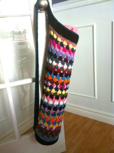 My crocheted yoga mat bag!