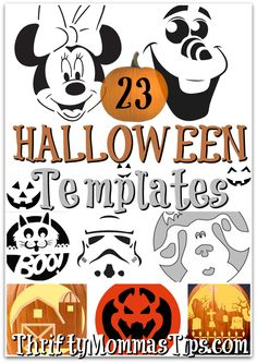 Will it be a spooky Halloween or a Disney style Princess and Pirates kind of day? No matter the style we have pumpkin carving templates for you.