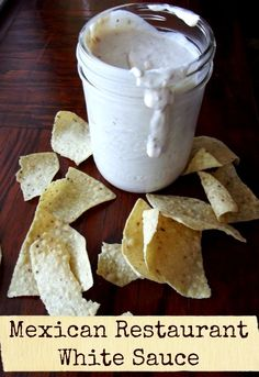 Mexican Restaurant White Sauce Copy Cat recipe of that yummy. Mexican Restaurant White Sauce Copy Cat recipe of that yummy white dip Mexican restaurants serve with chips and salsa! Copycat Recipes, New Recipes, Cooking Recipes, Favorite Recipes, Recipes Dinner, Potato Recipes, Chicken Recipes, Pasta Recipes, Crockpot Recipes