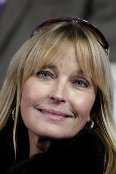 Bo Derek, she looks wonderful.  Not over done or overly made up.  Good for her.  She is beautiful.