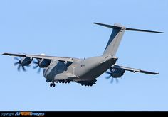 The RAF showing off it's latest aircraft the brand new Airbus A400M Atlas ZM400 at RAF Leeming