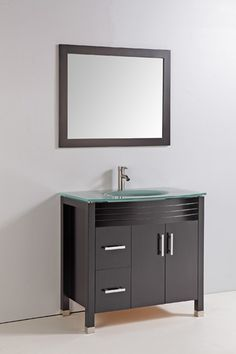 Vanity Art Solid Wood Sink Vanity With Mirror And Faucet   Vanity Top  Included