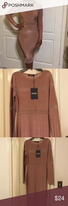 Brand new with tags mauve midi dress Brand new mauve midi dress! Size 6 Missguided Dresses Midi