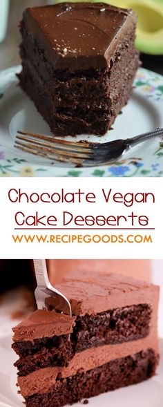 How to Make Best and Easy Chocolate Vegan Cake Desserts - Recipe