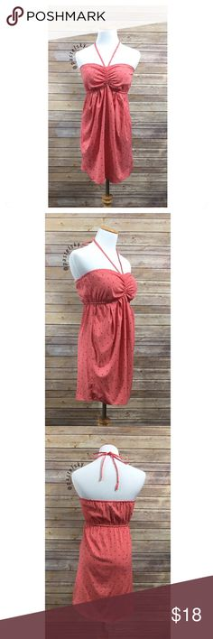 """ONEILL halter dress PRELOVED in good condition, minor wear, a few snags & marks, all photographed and hardly noticeable. perfect over a bikini at the beach or pool during spring & summer days!  details ・small  ・25.5"""" length (without straps) ・13""""- 16.5"""" bust (elastic)  materials ・100% polyester  due to lighting- color of actual item may vary slightly from photos. please don't hesitate to ask questions. happy POSHing 😊  💰 use offer feature to negotiate price 🚫 i do not trade or take any…"""