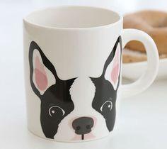 New Puppy Coffee Mug Cup Bosten Terrier Gift Idea Ceramic cute! #SSUEIM