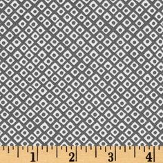 Michael Miller Mini Mikes Gray Citron Dot-N-Square Grey - Discount Designer Fabric - Fabric.com