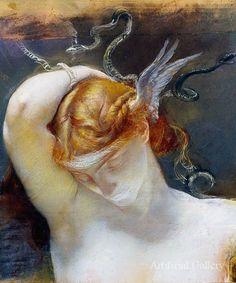 Artemis Dreaming, detail: Giulio Aristide Sartorio
