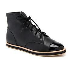pretty nice 2a9b7 e82e1 Octavia High Top Sneaker Black Leather - Augustina Boutiques