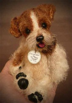 Patches the Fox Terrier Palm Puppy