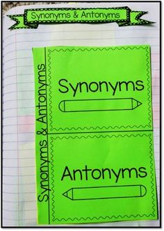 Foldable for synonyms & antonyms for an interactive notebook!