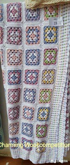 Crochet Blocks, Crochet Squares, Crochet Granny, Crochet Baby, Knit Crochet, Crochet Patterns, Crochet Afgans, Crochet Blankets, Quilted Ornaments