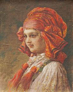 Kamil Vladislav Muttich: Děvče z Vlčnova (Girl from Vlčnov), 1910
