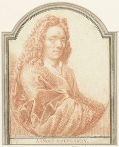 Jacob Houbraken   Portret van Arnold Houbraken, Jacob Houbraken, 1708 - 1780   Ontwerp voor een prent.