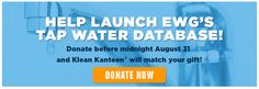 Help Launch the Tap Water Database!