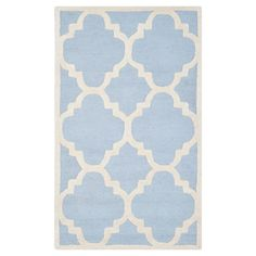 Landon Texture Wool Rug - Light Blue / Ivory (3' X 5') - Safavieh, Light Blue/Ivory