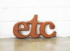 Vintage Wooden etc Sign