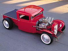 Little Apple Red Hot Rod Pickup Truck.and Ready to Run Hard Rat Rod Trucks, Rat Rods, Cool Trucks, Pickup Trucks, Cool Cars, Truck Drivers, Mini Trucks, Diesel Trucks, Chevelle Ss
