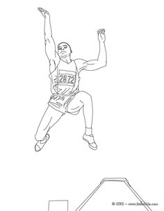 Steeplechase athletics coloring page. More sports coloring