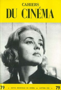 Cahiers du Cinema. Featuring Jeanne Moreau in Louis Malle's Elevator to the Gallows (1958).