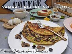 Cheese Mushroom Omelette - sanaa's recipe Egg Masala, Mini Apple Pies, Stuffed Mushrooms, Stuffed Peppers, Buttermilk Pancakes, Recipe Notes, Food Categories, Recipe Details