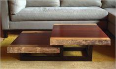 Elegant Living Room Table - Cool and Elegant DIY Coffe Table Ideas Live Edge Furniture, Timber Furniture, Unique Furniture, Furniture Projects, Custom Furniture, Table Furniture, Furniture Design, Studio Furniture, Cheap Furniture