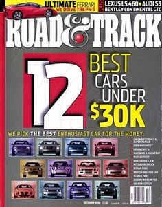 Road & Track Magazine Just $3.99 A Year!