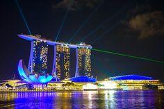 Marina Bay Lasershow Singapur