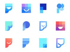 Logo concepts explorations for Pagemate ( for sale) designed by Vadim Carazan. Connect with them on Dribbble; Logos, Logo Branding, Branding Design, Brand Identity, App Design, Icon Design, Carta Logo, App Logo, Education Logo